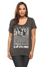 The Beatles All You Need Is Love Lyrics Tee SKU: 843405