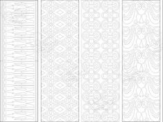 bookmark pattern 3, Bookmark, instant download, birthday activity, coloring sheet, coloring bookmark, bookmarks, bookmarks to print, pattern