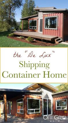 De Lux Shipping Container Home by Relevant - Off Grid World deluxe shipping container home Cargo Container Homes, Shipping Container Home Designs, Shipping Container House Plans, Building A Container Home, Storage Container Homes, Container Buildings, Container House Design, Tiny House Design, Shipping Containers