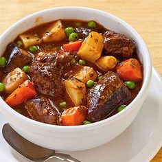 Delicious beef stew adapted as an easy and fast pressure cooker recipe