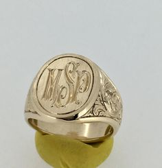 Signet Ring met aangepaste Mens Signet Ring gouden Signet