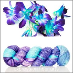 ORCHID HUES SUPERWASH MERINO SILK PEARLESCENT FINGERING - Expression Fiber Arts, Inc.
