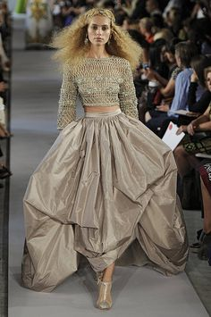 crochet top in gold!  Oscar de la Renta Spring 2012.