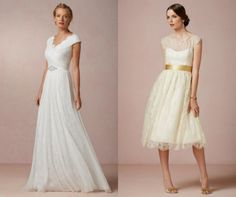 High Neckline Wedding Gowns You Will Want To Wear - LOVE the one on the left