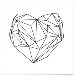 Heart Graphic en Affiche premium par Mareike Böhmer   JUNIQE