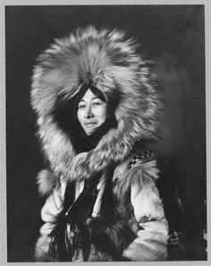 Eskimo woman posing;  Lomen Bros., photographer, 1915, Library of Congress Prints and Photographs Division,  Frank and Frances Carpenter collectiong