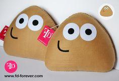 Kawaii #handmade felt Pou Stuffed ToysbyFD.FOREVER~ #cute #pillow #crafts