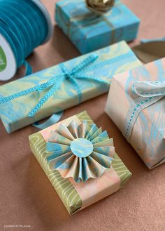 Marbled Gift Wrap