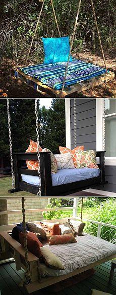 Садовые качели своими руками из старых поддонов| Home Design DIY