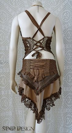 PIXIE LAYER SKIRT boho elven forest jungle gypsy romantic