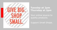 Give Big : Shop Small : Prop sales events   Find many gorgeous items ready to ship on the Facebook page..  http://www.facebook.com/PropSaleEevents