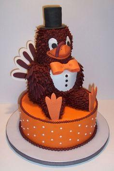 Virginia Tech Groom's Cake By mooj on CakeCentral.com