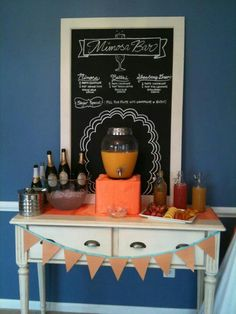Mimosa bar! This is adorable