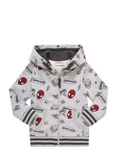 Clothing at Tesco | Marvel Spider-Man Zip-through Hoodie > tops > Shop All Boys > Kids