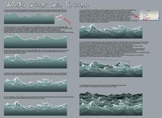 Stormy Sea Tutorial by suzidragonlady.deviantart.com on @deviantART Tutorial I used for my OH QUACK! artwork. ★ || Please support the artists and studios featured here by buying this and other artworks in their official online stores • Find us on www.facebook.com/CharacterDesignReferences | www.pinterest.com/characterdesigh | www.characterdesignreferences.tumblr.com |  www.youtube.com/user/CharacterDesignTV and learn more about #concept #art #animation #anime #comics || ★