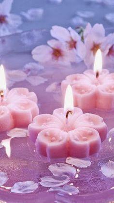 Plovoucí svíčky * kytičky