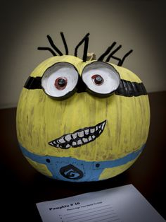 CoServ 2013 Pumpkin Carving Contest Entry. (Minion)
