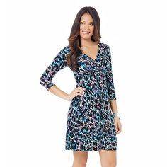 daisy fuentes® Knot-Front Dress - Women's