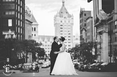 Picture perfect backdrop of Downtown Albany for your special day! #love #kiss #weddings #thestateroom http://thestateroomalbany.com/