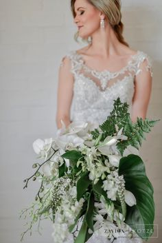 Zavion Kotze Events Company, Orchid, Green, White, Hanging Orchids, international wedding florist, South Africa's top wedding planner and Florist Green Orchid, Event Company, Orchids, Wedding Planner, Floral Design, Events, Event Management, Wedding Dresses, Lace