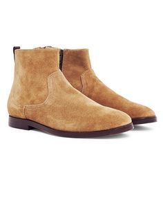 New In | Hudson Lancing Suede Boot in Sand | Shop all men's shoes and clothing and The Idle Man