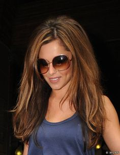 Medium/Light Brown Highlights.  i believe i need these sunglasses as well.