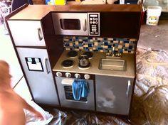 DIY boys toy kitchen