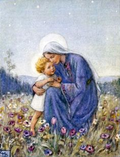 Love this image!  Madonna - Mary & Jesus by Margaret Tarrant by Waiting For The Word, via Flickr