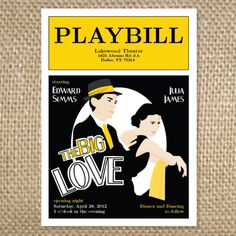 with lots of time, ocd and willpower, i designed my very own Playbill program for our ceremony. It was a lot of work, but worth it... probably the thing from our wedding I received the absolute most compliments on, other than my dress. :) worth it!!!!