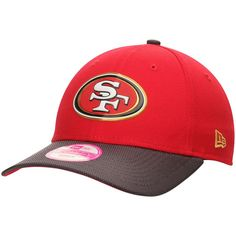 San Francisco 49ers New Era Women's Gold Collection On Field 9FORTY Adjustable Hat - Scarlet/Graphite