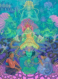 ✨ The Shaman's Journey. Psychedelic Art, Illustrations, Illustration Art, Acid Art, Psy Art, Mystique, Hippie Art, Visionary Art, Sacred Geometry
