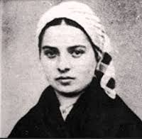 April 16th - St. Bernadette: One Thursday, February 11, 1858, when she was sent with her younger sister and a friend to gather firewood, a very beautiful Lady appeared to her above a rose bush in a grotto called Massabielle. The lovely Lady was dressed in blue and white. She smiled at Bernadette and then made the sign of the cross with a rosary of ivory and gold.