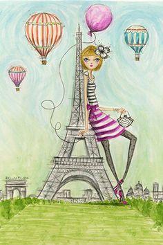 "See The Sights: ""Paris"" By Bella Pilar Canvas Print #BPR197"