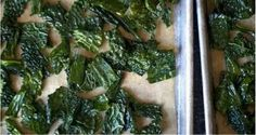 Simple baked kale chips:  1 bunch of kale, dash of olive oil, sea salt.    Preheat oven to 425.  In a bowl, combine kale & oil until kale is lightly covered.  Spread kale on baking sheet and liberally sprinkle w/ sea salt.  TURN OFF THE OVEN.  Put chips in oven for 15-25 minutes being careful not to overcook