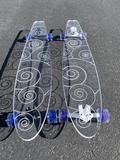 Swirl Ghost Board – Ghost Long Board Platypus, Coral, Turquoise, Orange, Yellow, Big Boys, Shark, Purple, Blue