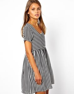Image 1 of Goldie Striped Dress