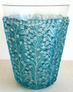 St Tropez vase c.1937 ........... Stencil R Lalique France H-18cm