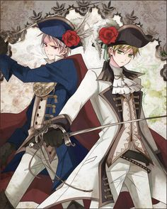 Gilbert and Arthur - Art by kirii77 on Pixiv, found via Zerochan
