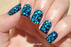 Blue Nail Art with Bows 2014 Blue Nail 2014 Crazy Nail Designs, Blue Nail Designs, Different Nail Designs, Nail Art 2014, Nails 2014, Jelly Sandwich Nails, Sculpted Gel Nails, Nailart, Studded Nails