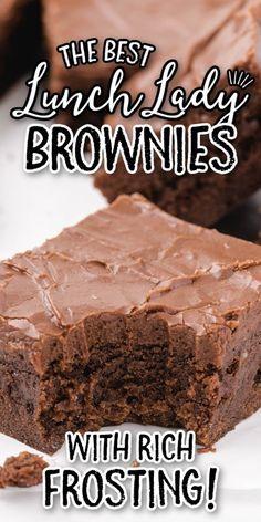 Chocolate Icing For Brownies, Cake Like Brownies, Homemade Chocolate Frosting, Brownie Frosting, Chewy Brownies, Best Brownies, Frosted Brownies, Best Chocolate Icing, Best Chocolate Brownie Recipe