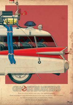 GHOSTBUSTERS Inspired ECTO-1 Art Print — GeekTyrant