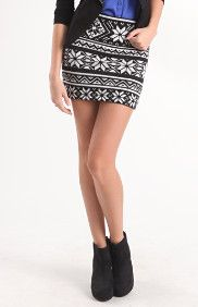 Sweater Knit Body Con Skirt