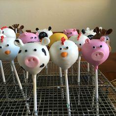 Farm animal themed cakepops