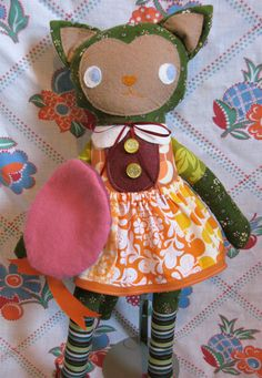 Kismet Kitty Soft Stuffed Cat Doll by whimsyvintage on Etsy