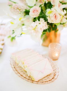 Valentines day cookies in the form of teeny pink envelopes! / Photography by: White Loft Studio / Design & Styling by: Style Me Pretty at Home Valentines Day Cookies, Valentine Crafts, Happy Valentines Day, Pink Envelopes, My Dessert, Dessert Table, Pasta, Party Treats, Wedding Desserts