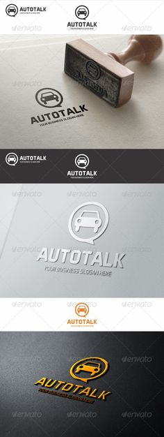 Auto Talk  - Logo Design Template Vector #logotype Download it here: http://graphicriver.net/item/auto-talk-logo/7713857?s_rank=533?ref=nexion