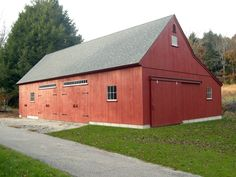 Find old new england style post beam barn building kits for New england shed plans