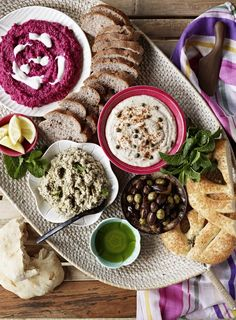 Place all the ingredients in a food processor and pulse to blend, keeping the mixture a little chunky. Season. Tip into a shallow serving dish and garnish with sesame seeds. Makes 2 cups. Menu: Serve on a mezze platter with ...