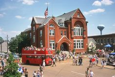 Oxford, Mississippi - The Square during the Double Decker Arts and Music Festival. <3
