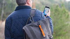 The GoTenna accessory can help you text and share locations from your smartphone, even when you don't have any cell service. WSJ's Geoffrey Fowler took it into the woods to test it out. Photo/Video: Emily Prapuolenis/The Wall Street Journal